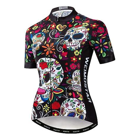 HAOHOAWU Jerseys De Ciclismo para Mujeres, Camisetas De Ciclismo ...