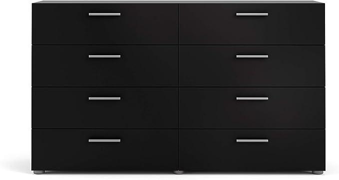Tvilum 8 Drawer Double Dresser Black Matte Furniture Decor Amazon Com