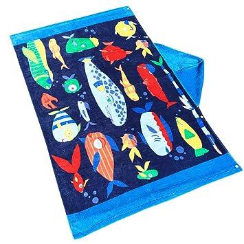 Toalla de baño para niños, ANGTUO 100% algodón con capucha Toalla de baño Toalla de playa Toalla de playa para niños y niñas: Amazon.es: Hogar