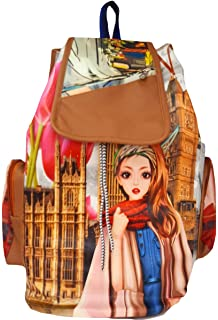 1118f461773e Typify Printed Casual Purse Fashion School Leather Backpack Shoulder Bag  Mini Backpack Girls   Women s Bag