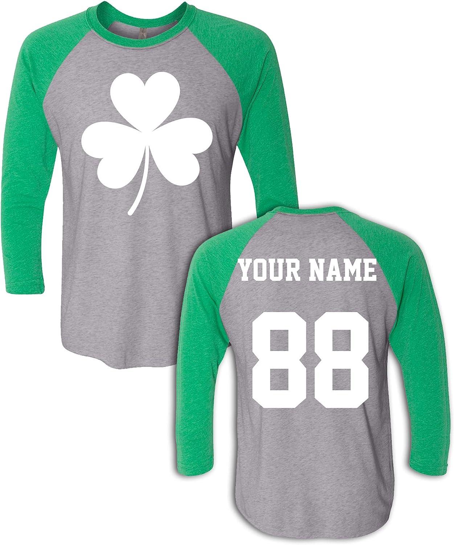 Custom Jersey Style St Patrick's Day T Shirts - Saint Pattys Tee & Irish Outfits