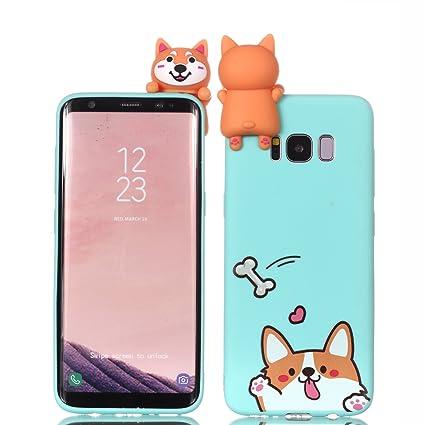 CoverTpu Funda Samsung Galaxy S8 Plus Silicona Carcasa 3D Suave Ultra Delgado Flexible Goma TPU Antigolpes Trasero Case Ultrafina 3D Caja Cubierta ...