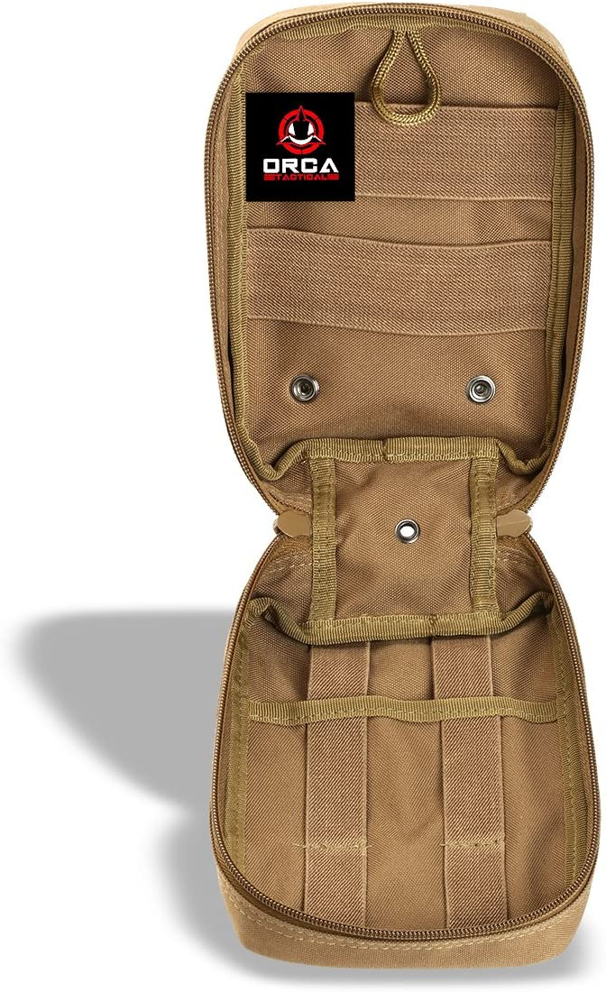 Orca Tactical MOLLE EMT Medical First Aid IFAK Utility Pouch Red Bag Only
