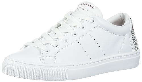 Skechers Side Street-Love is Blind, Zapatillas Para Mujer, Blanco (White), 35 EU
