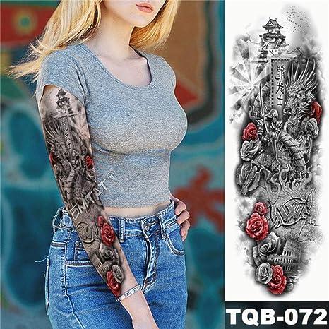 Brazo grande manga tatuaje arte Python impermeable pegatina Lotus ...
