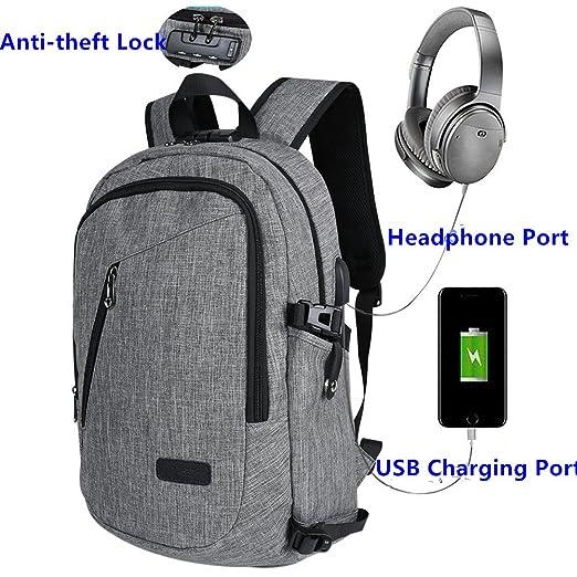 6 opinioni per Zaino Laptop BstAmzStore 3in 1 con serratura, porta USB di ricarica, interfaccia