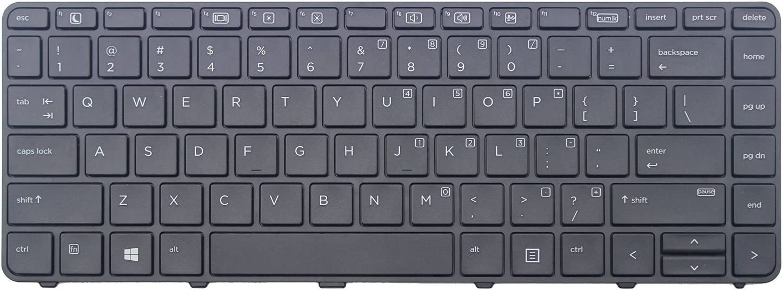 for HP Probook 440 G3 445 G3 US black backlit keyboard