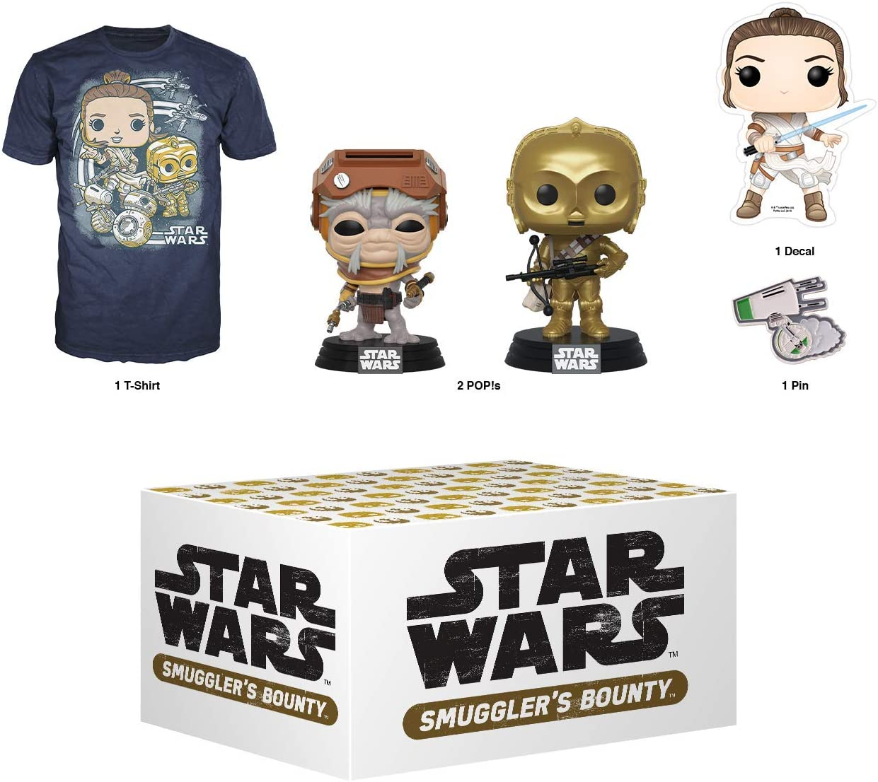 "Smuggler/'s Bounty exclusive 2XL T-SHIRT Funko /""Star Wars/"" Darth Vader"