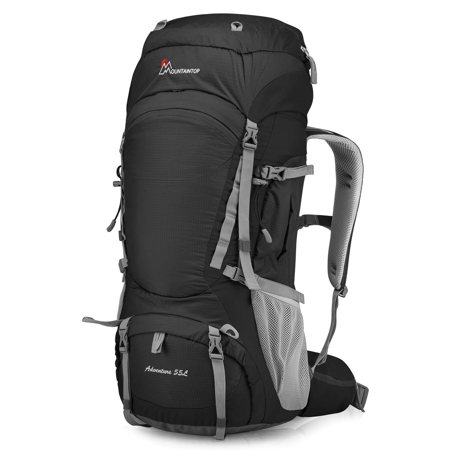 MOUNTAINTOP 55L 80L Hiking Backpack with Rain Cover