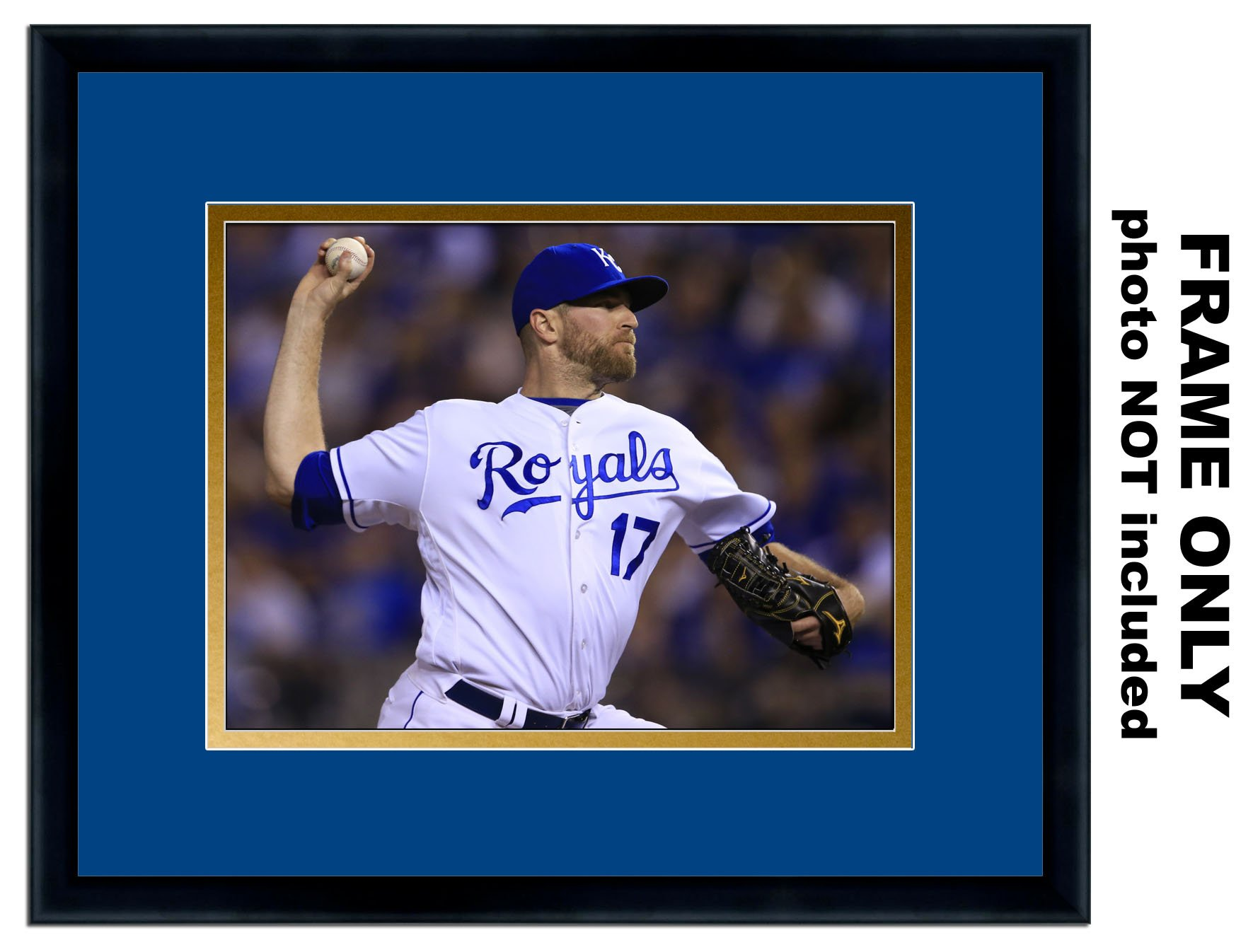 5x7 Photo Frame - with Kansas City Royals Colors Double Mat by The Kansas City Star