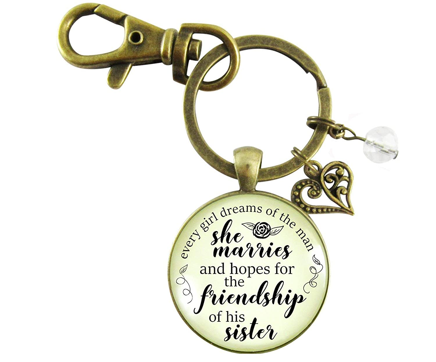 Sister-In-Law Keychain Every Girl Dreams New Sister Inspired Wedding Day Gift From Bride Family Jewelry Gift