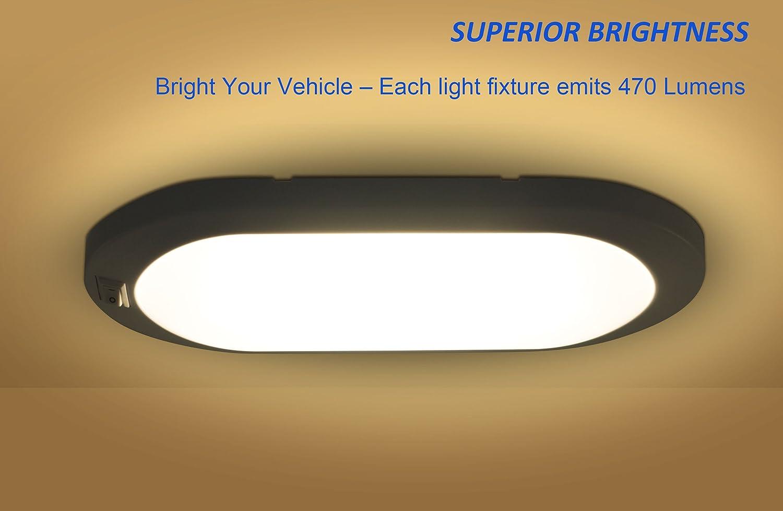 Plafoniere Camper 12v : Facon led 12v 6w luce luminosa pancake di auto plafoniera