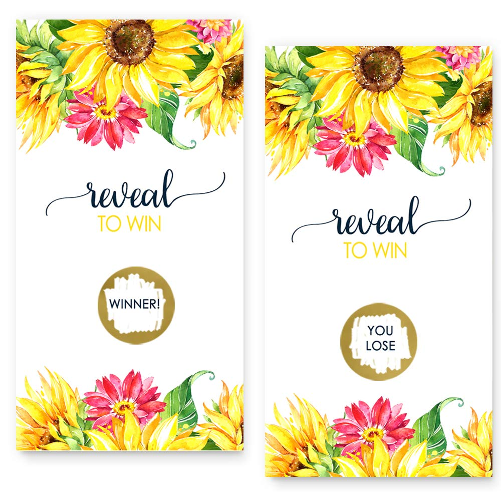 Bright Floral Scratch Off Game Cards (28 Pack)