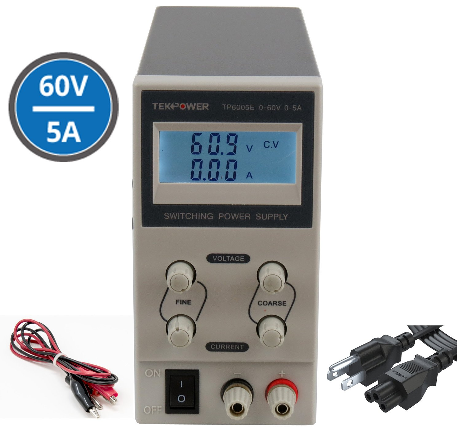 Tekpower Tp6005e Dc Adjustable Switching Power Supply 0 30v0 2a Voltage And Current Regulator 60v 5a Digital Display Home Audio Theater