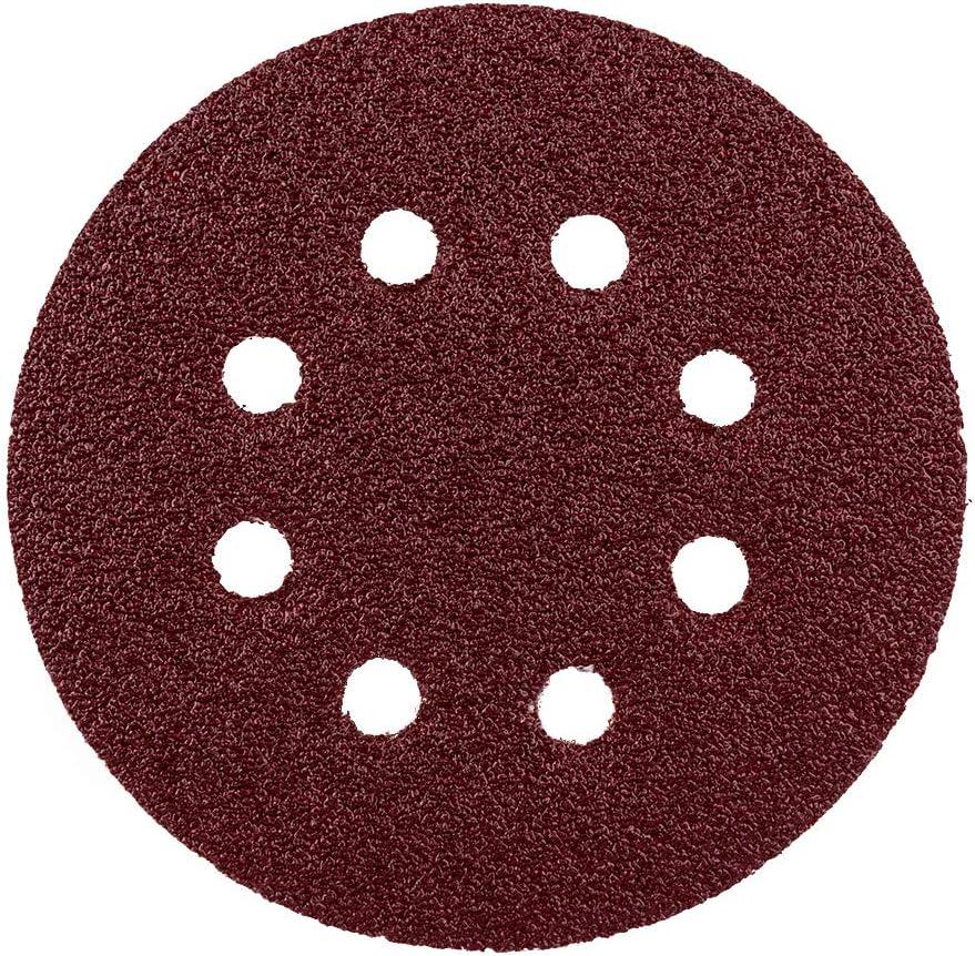 grain 180 grain 120 grain 60 grain 80 Lot de 80 feuilles de disques abrasifs Velcro//Haft pour ponceuse excentrique /Ø 125 mm grain 240//disques abrasifs Grain 40 8 trous Grain mixte
