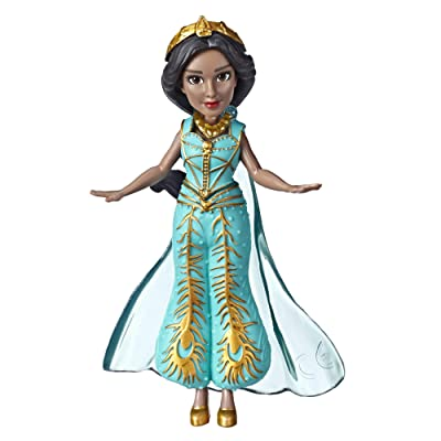 """Disney Collectible Princess Jasmine Small Doll in Teal Dress Inspired by Disney's Aladdin Live-Action Movie, Toy for Kids Ages 3 & Up, 3.5"""": Toys & Games"""