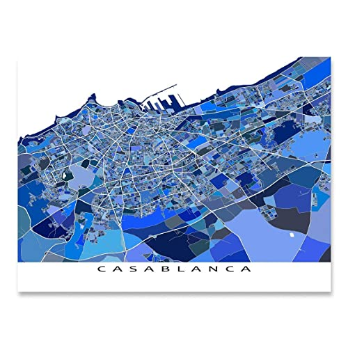 Casablanca Map on