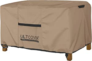 ULTCOVER Patio Coffee Table Cover, Waterproof Rectangular Outdoor Small Side Table Cover 48L x 26W x 18H inch