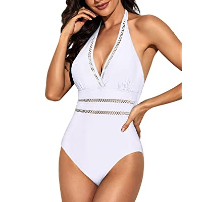 Womens Swimwear Swimsuit Bathing Suit Monokini Bikini Hollow Beachwear Halter