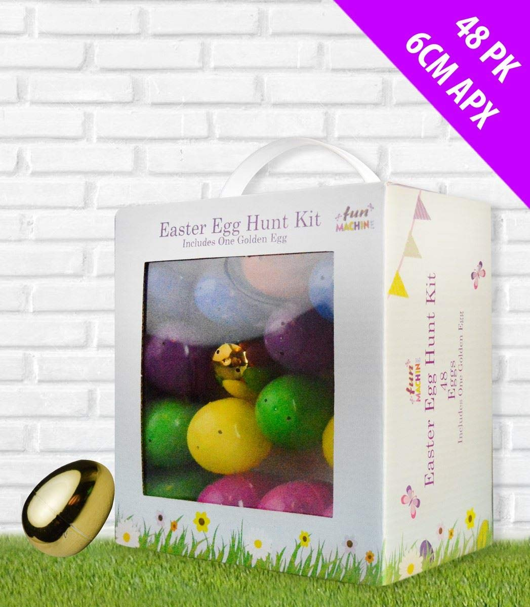 10 Fillable Eggs Easter Surprise Egg Chocolate Hunt Decoration Fill Party GOLDEN
