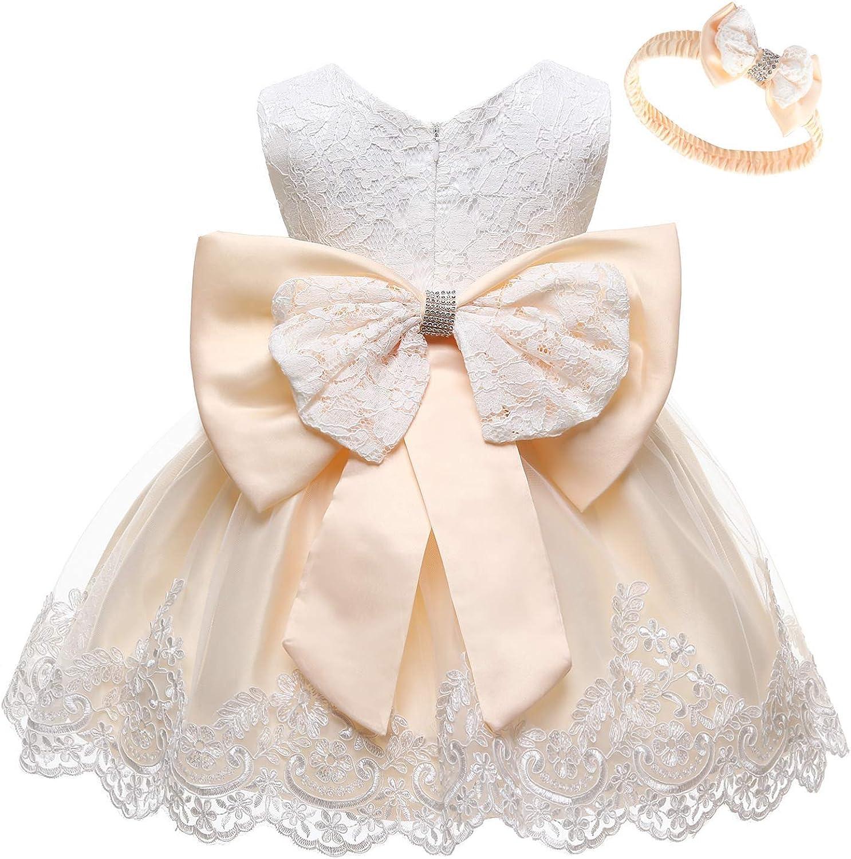 Amazon.com: WOCINL Baby Girls Lace Bowknot Flower Dresses Princess