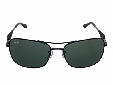 fc2a284d14 Image Unavailable. Image not available for. Color  New Ray Ban Active  Lifestyle RB3515 006 71 Matte Black   Green 61mm Sunglasses