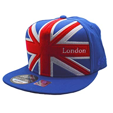 da83a98fc53 Carbon212 London Union Jack Snapback Cap  Amazon.co.uk  Clothing