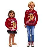 Childrens Kids Unisex Party Christmas Xmas Knitted Jumper Sweater Top Seasonal Winter Retro Santa Hat Snowman Rudolph Polar Bear Star Wars Gingerbread Knitting Long Sleeves Age 3 - 12