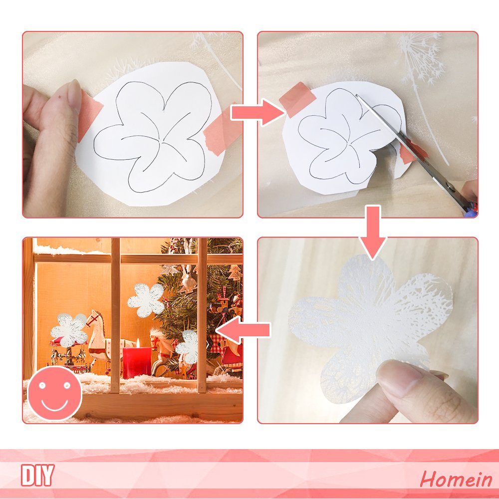 3D Crystal Clear Vine Decorative Stained Glass Window Film Removable Self Adhesive Door Sticker Static Cling Vinyl Window Paper for Home Kitchen Office 35.4x78.7 /… Homein Window Film Privacy