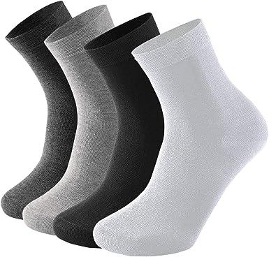 Fodlon 4 Pares Hombres Medias de Algodón Calcetines Deportivos Calcetines Hasta la Pantorrilla Liners Calcetines Calcetines de Trabajo Calcetines de Tenis Talla 38-45: Amazon.es: Ropa y accesorios