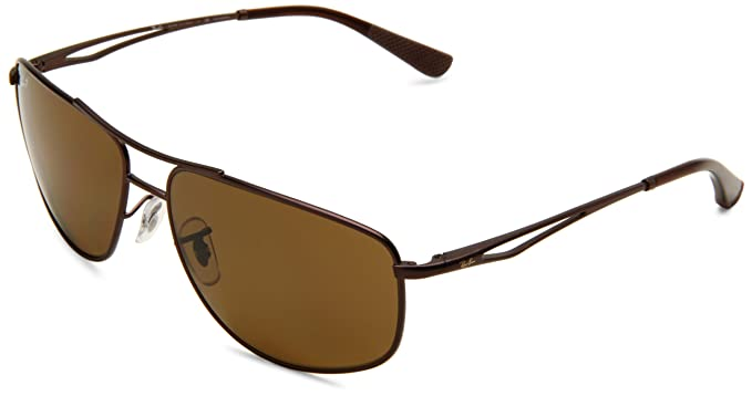 6514df1e14 Ray-Ban RB3490 - MATTE BROWN Frame POLAR BROWN Lenses 62mm Polarized ...