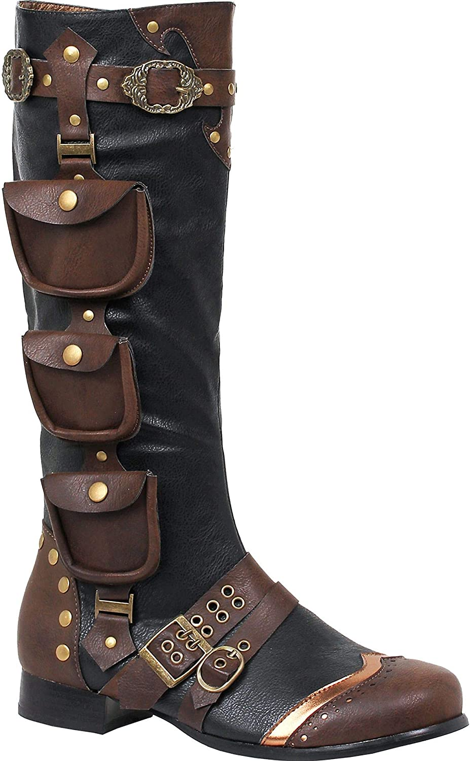 Ellie Shoes Men's 121-Amos Steampunk Boots - Victorian Costume Shoes