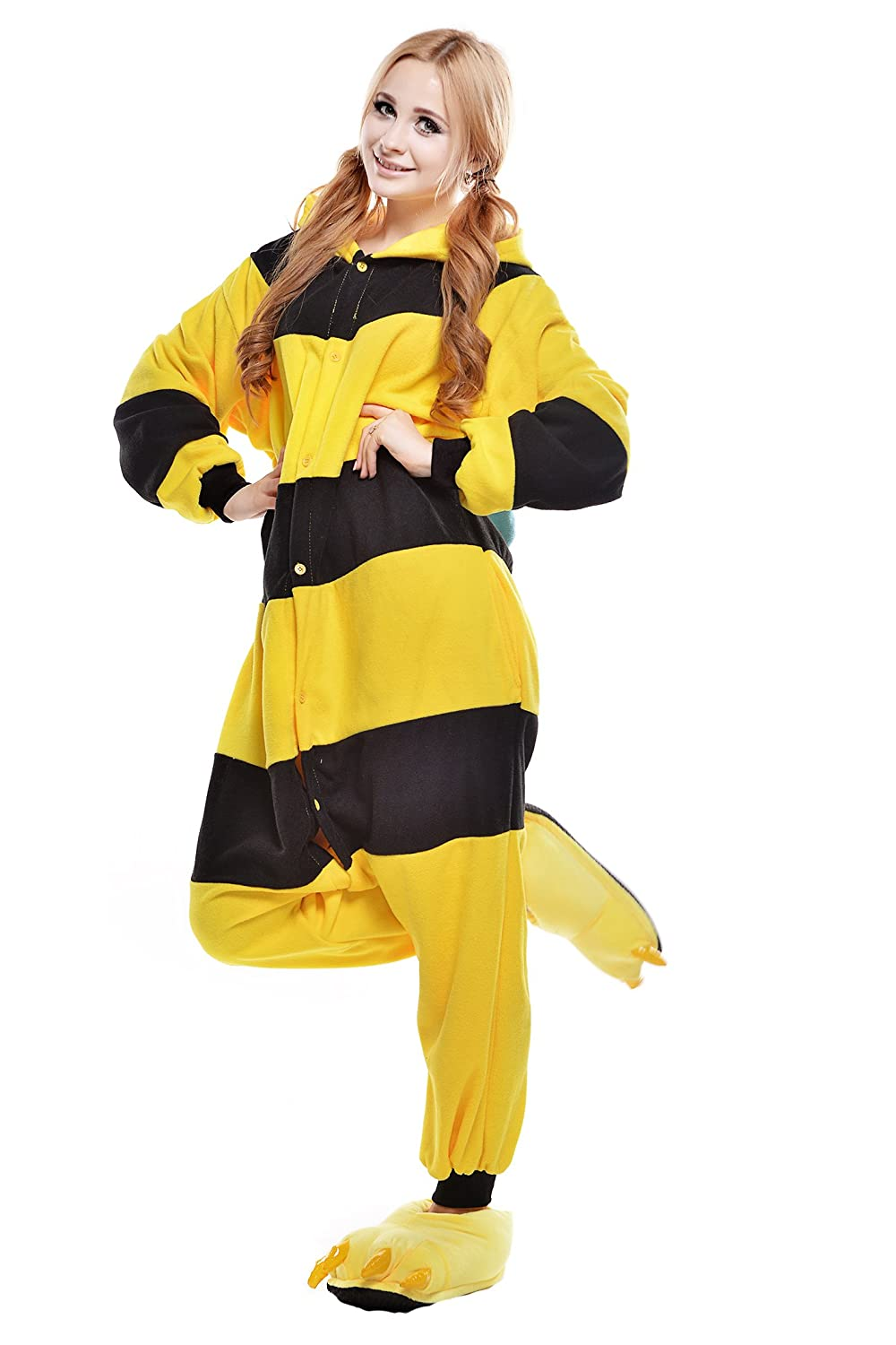 Amazon.com: NEWCOSPLAY Halloween Unisex Adult Bee Pajamas Cosplay costumes: Clothing