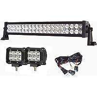 Simplive 24 Inch 120W 10-30V LED Light Bar Waterproof Off Road Led Light Flood Spot Combo Beam for SUV UTE ATV Truck…