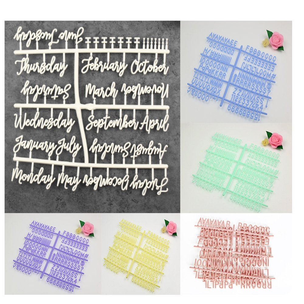 Letters for Changeable Felt Letter Boards 3/4 - Cursive Words (Day and Months Letter Board Letters(793pcs)
