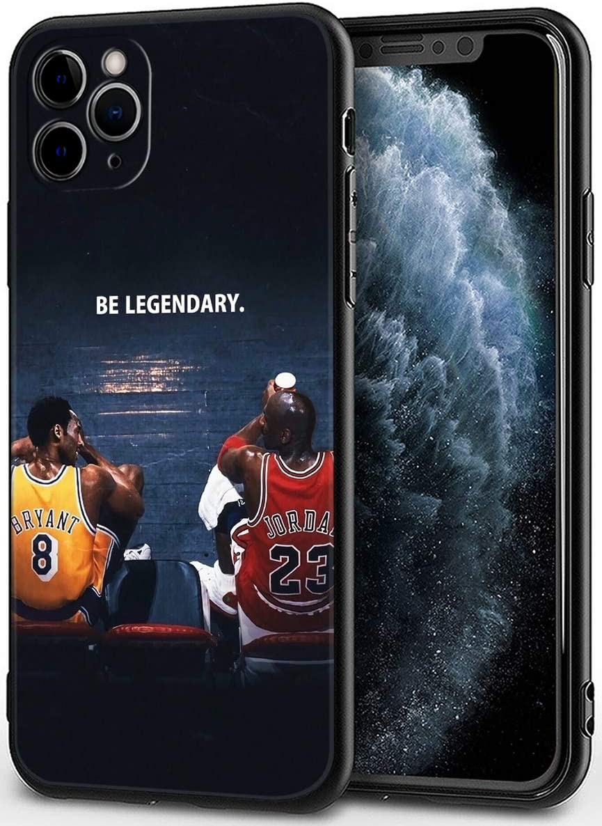 """iPhone 11 Pro Max Case,Basketball Theme Design Ultrathin Cover Cases for iPhone 11 Pro Max 6.5"""" (Kobe-Michael-Legendary)"""