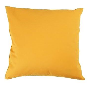 Hans Textil Shop Kissenbezug 30x30 Cm Uni Gelb Baumwolle Canvas