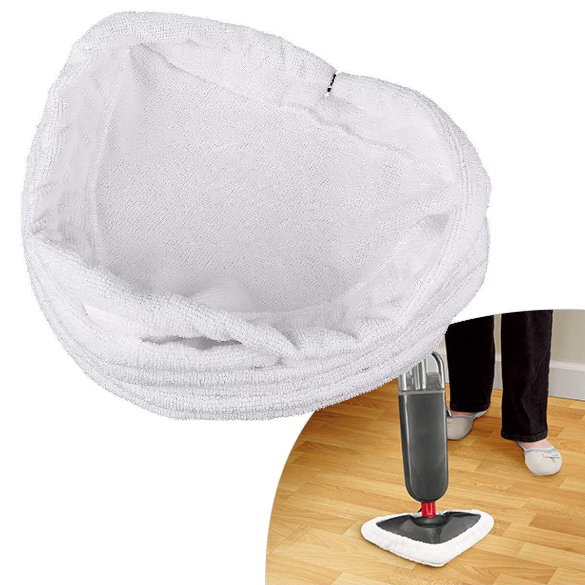 Queta 3 pz universale lavabile triangolare Steam mop Pad pulizia Pad copertura in microfibra compatibile con lavapavimenti a vapore X5 e Vax S2