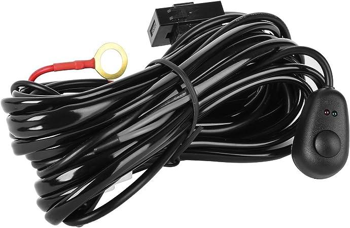 Eyourlife Kabelbaum Kabelsatz Relais Adapter Für Kfz Scheinwerfer Arbeitsscheinwerfer Tagfahrleuchten Lichtleisten 12v 40a Für 2 Lampe Max 180w Auto