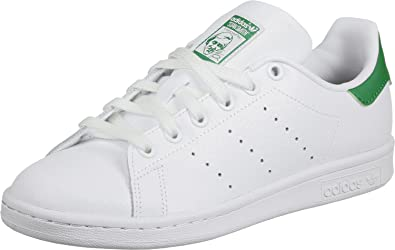adidas Stan Smith Mid, Sneakers Basses Homme, Blanc (Ftwwht/Ftwwht/Green), 40 EU