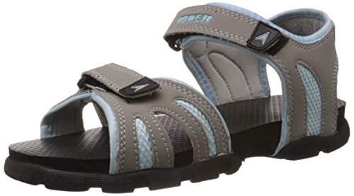 ebe25a3a02f8d Power Women s Rafter Grey and Silver Fashion Sandals - 3 UK India (36 EU