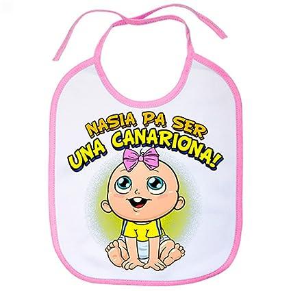 Babero nacida para ser una Canariona Las Palmas fútbol - Rosa