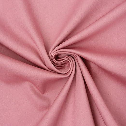 Tela de algodón, género al metro satén Spandex Color Rosa 1,45 m ...