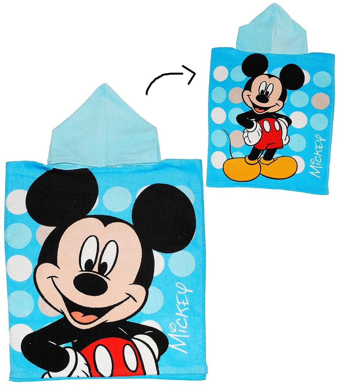 alles-meine.de GmbH Badeponcho Handtuch Strandtuch Baumwolle Disney Mickey Mouse incl 50 cm * 115 cm mit Kapuze Jungen Maus // Playhou.. Name 4 bis 8 Jahre Poncho