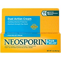 Neosporin + Pain Relief Cream Maximum Strength 1 oz (Pack of 2)
