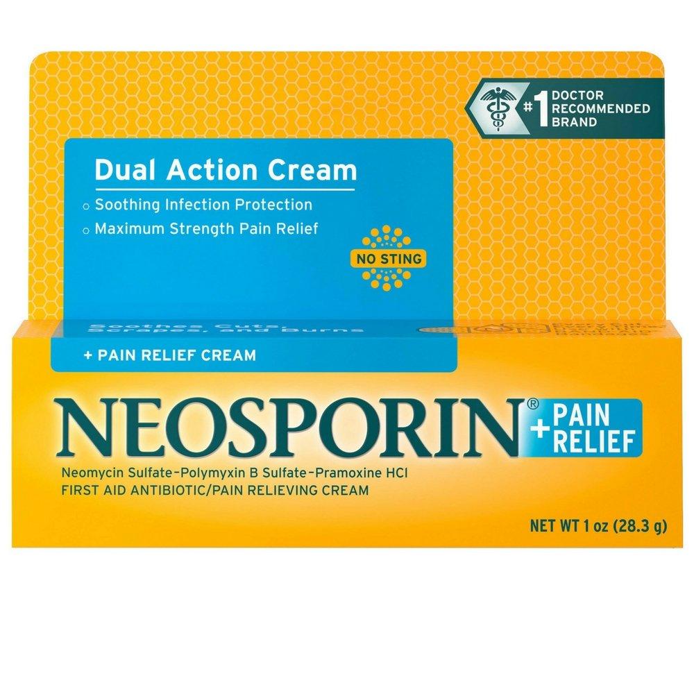 Neosporin + Pain Relief Cream Maximum Strength 1 oz (Pack of 3) by Neosporin