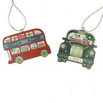 Amazon De Gisela Graham London Taxi Und Bus Christbaumschmuck