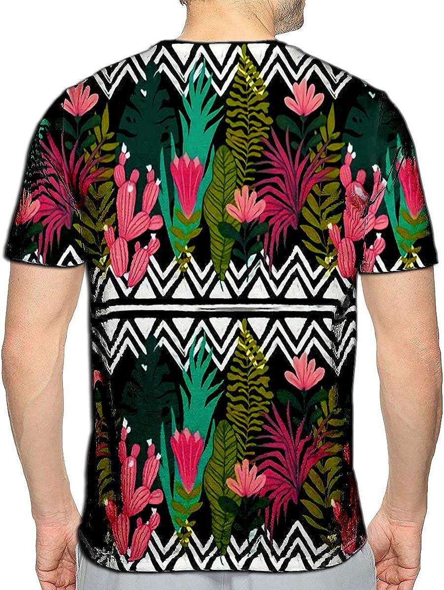 3D Printed T-Shirts Succulents Cacti Plant Botanical Green Desert Flora Fabric Print Home Garden Short Sleeve Tops Tees