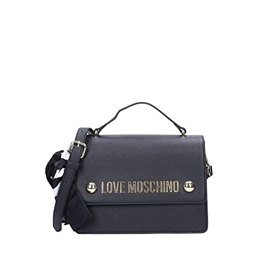 Love Moschino Borsa Donna Tracolla Soft Grain JC4309PP06KU0000 nero  Amazon. it  Scarpe e borse 3a2b8f89c3b