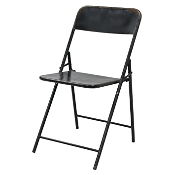 Better & Best Silla Plegable con Asiento Liso, Metal, Negro ...